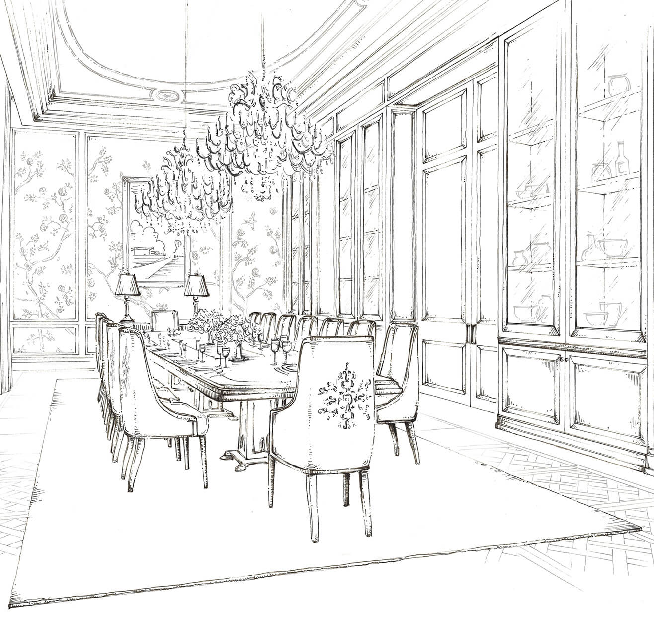 how to sketch like an interior designer