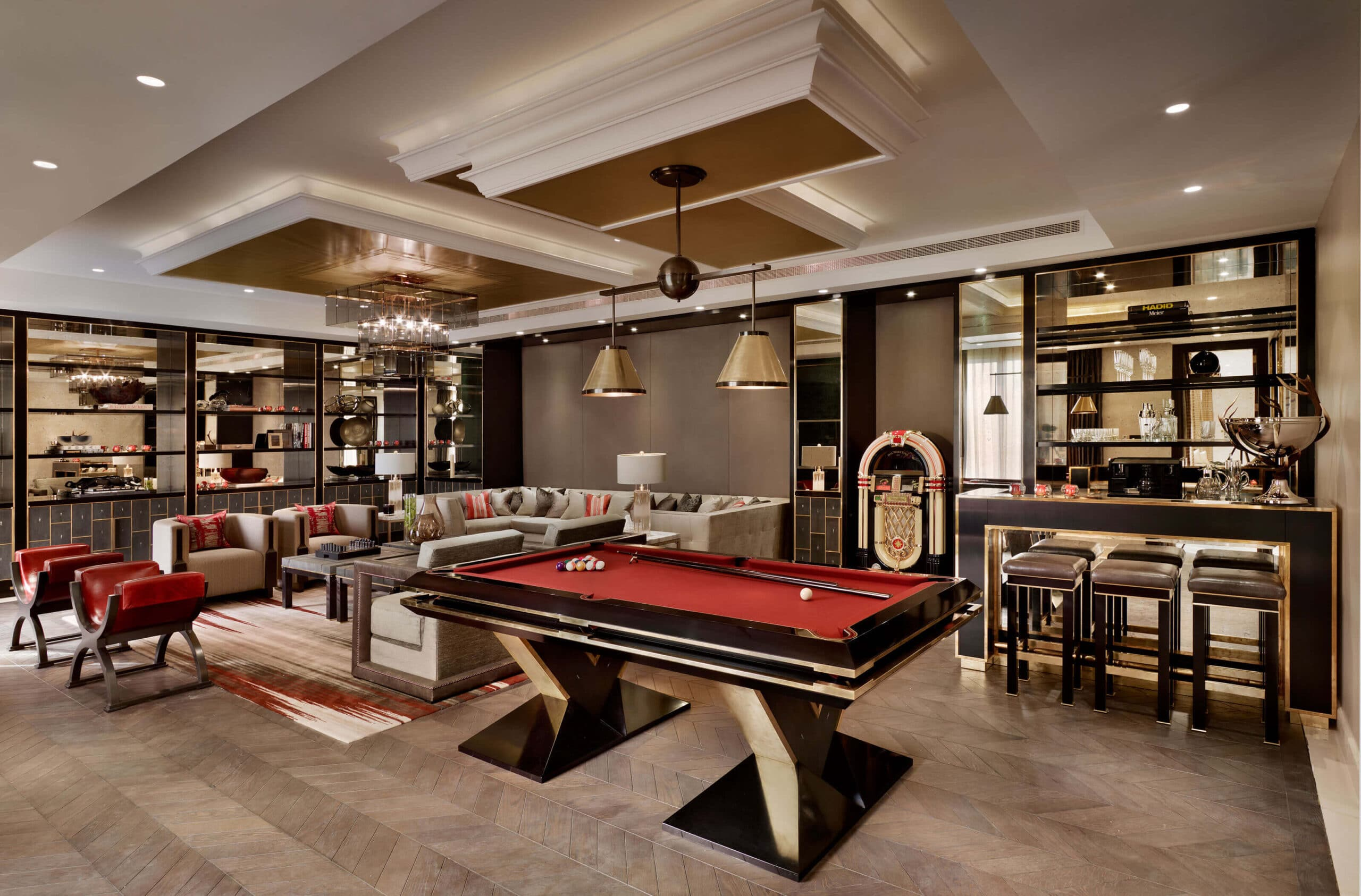 Luxury games room in Qatar project by Katharine Pooley
