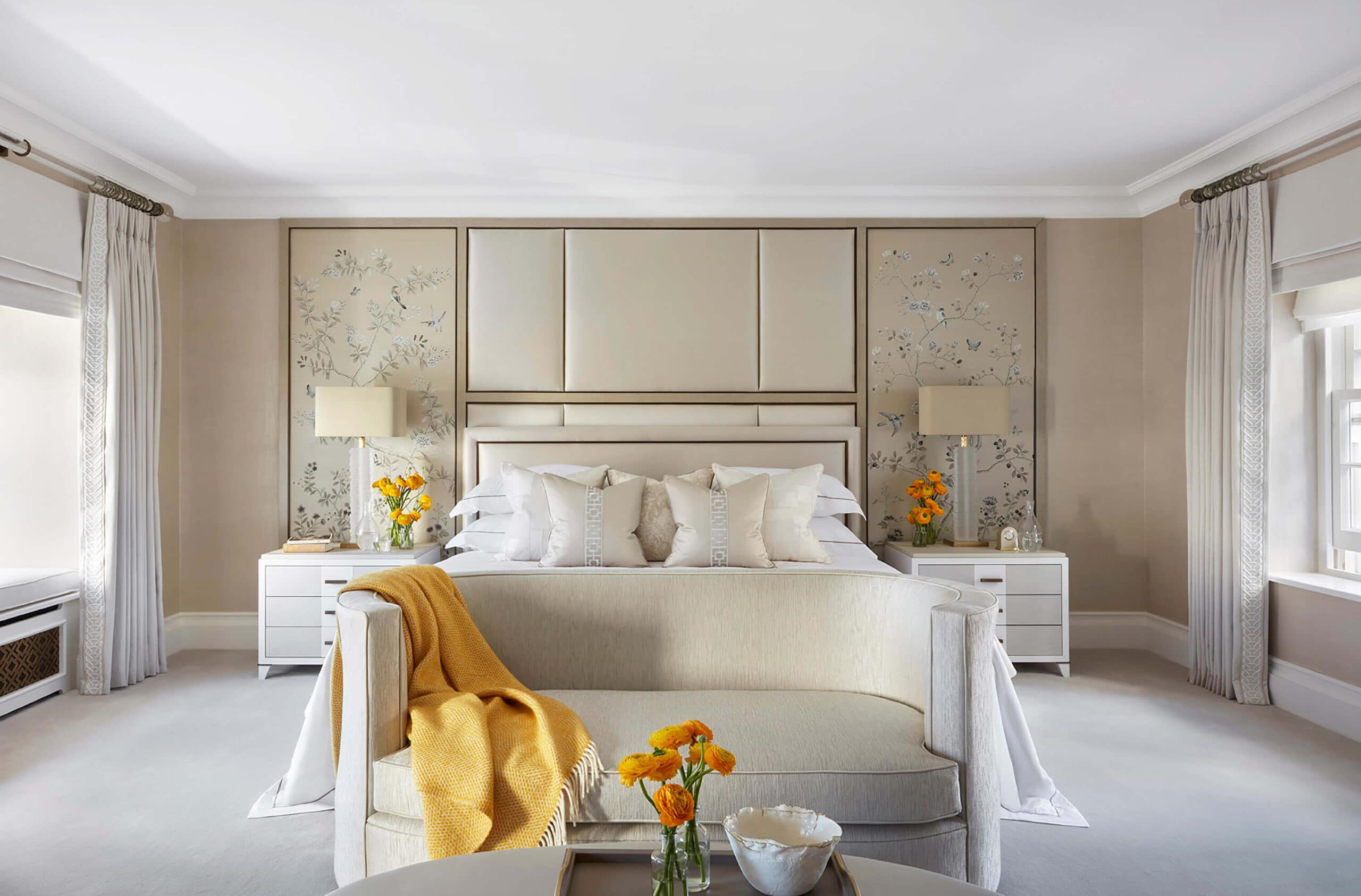 bedoom in kensington interior design project