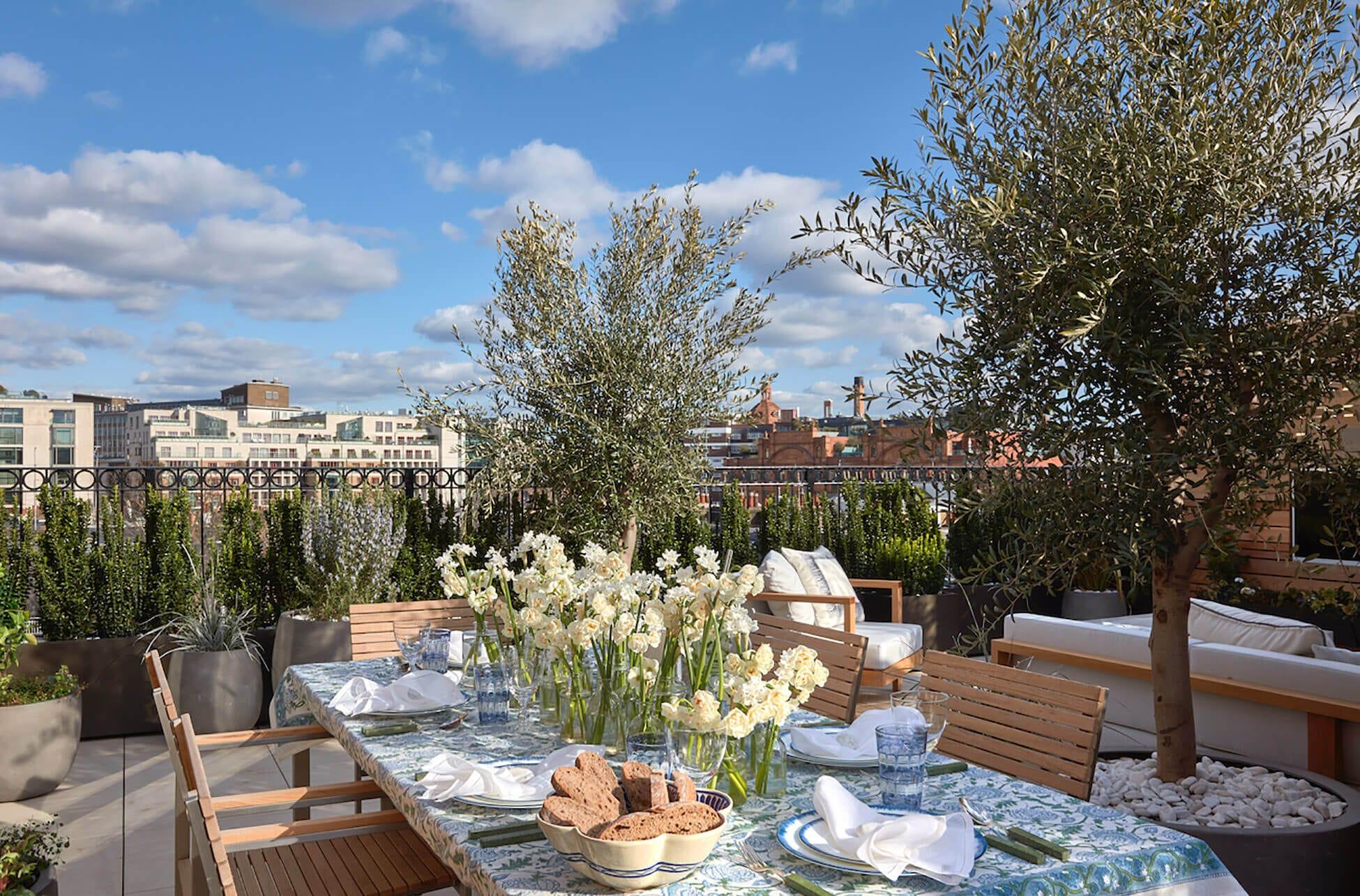 Balcony shot of kensington luxury interior design project