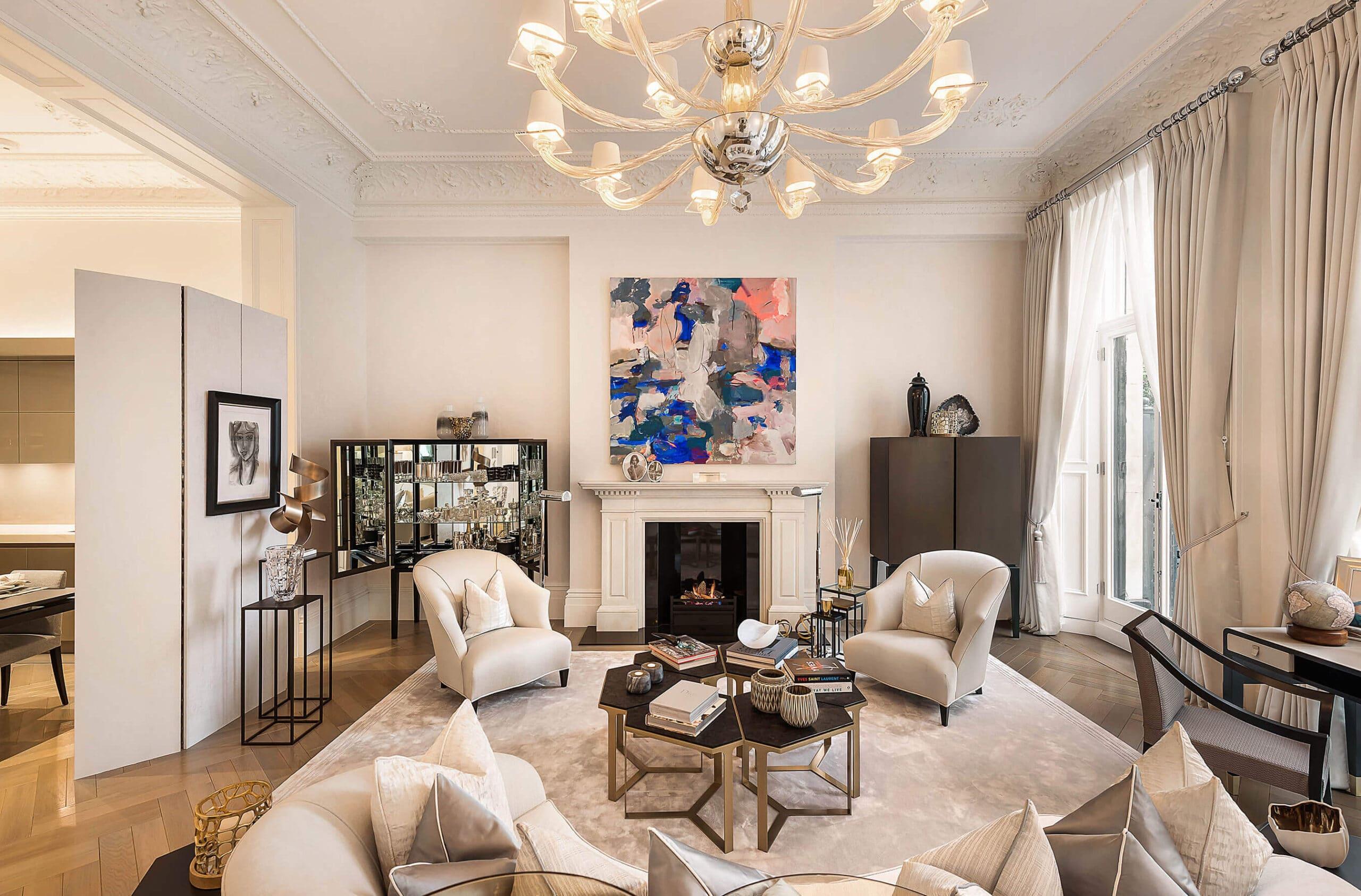 luxury interior design project in knightsbridge, London