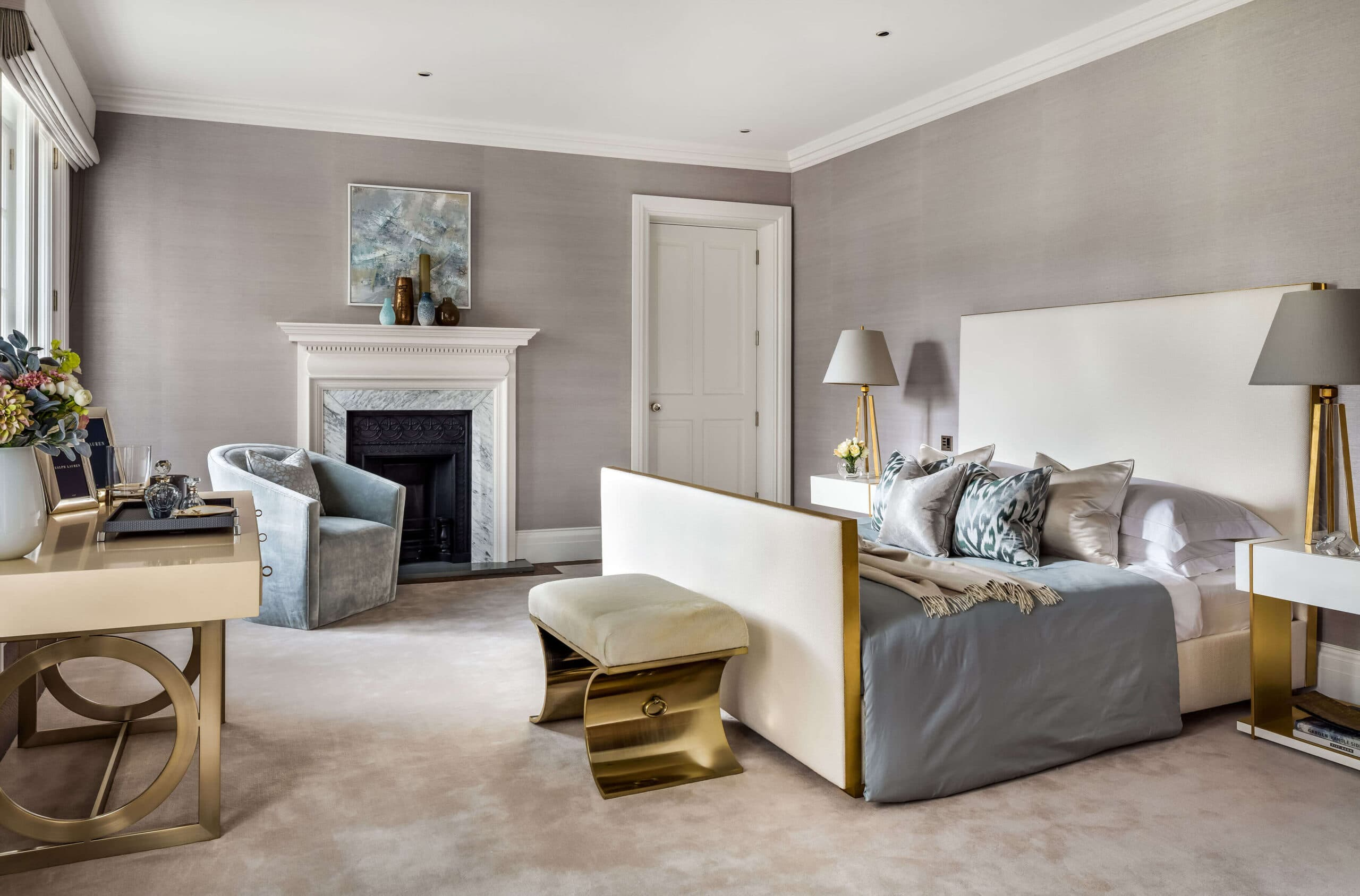 bedroom of interior design project in Westminster