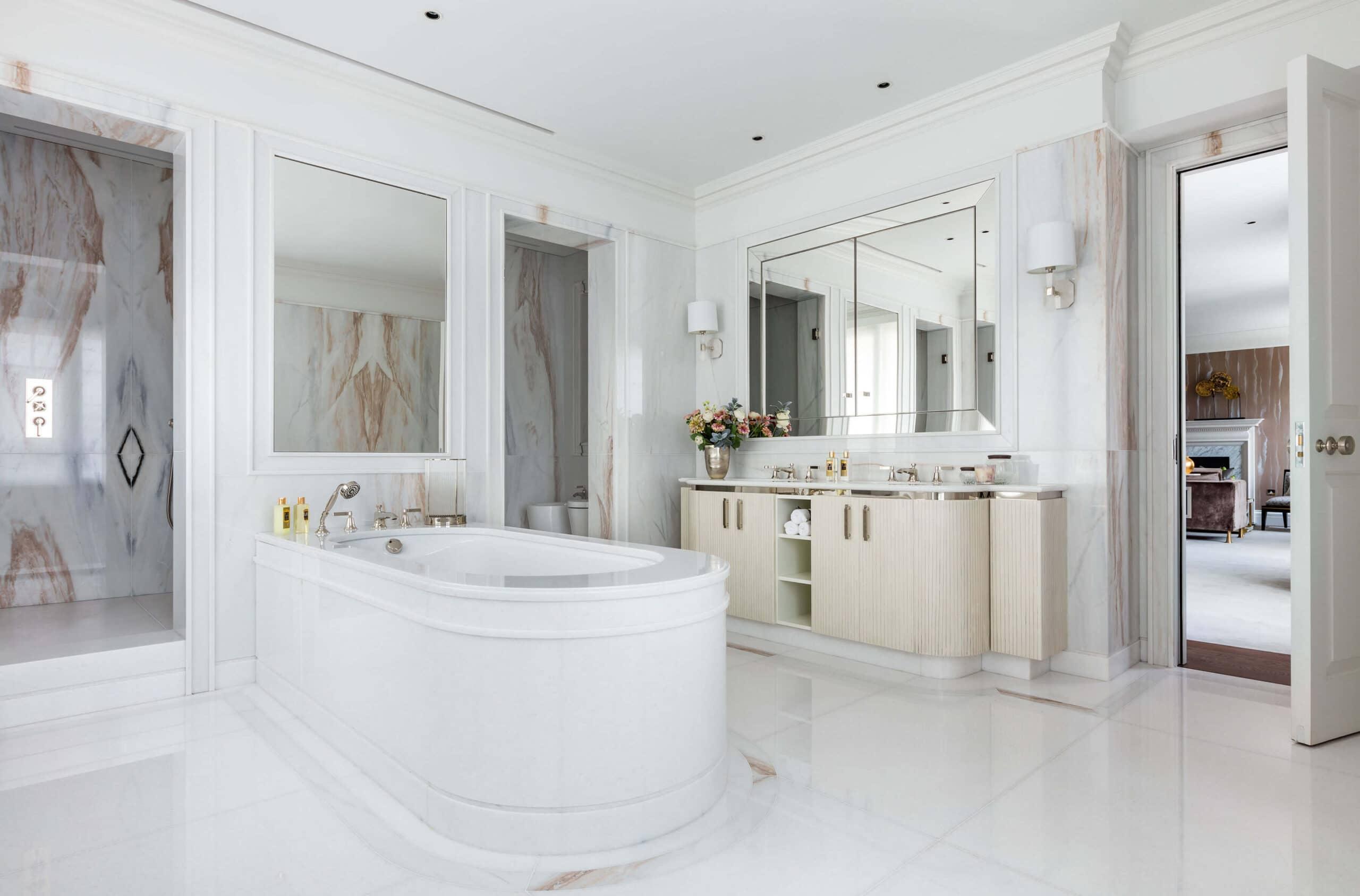 bathroom in luxury interior design project in Westminster