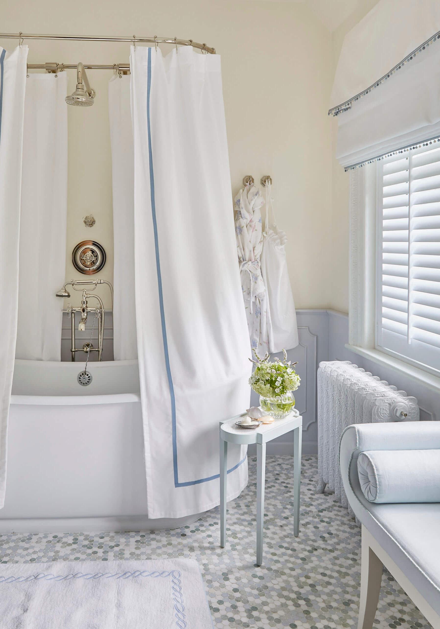 Luxury bathroom in classic family home