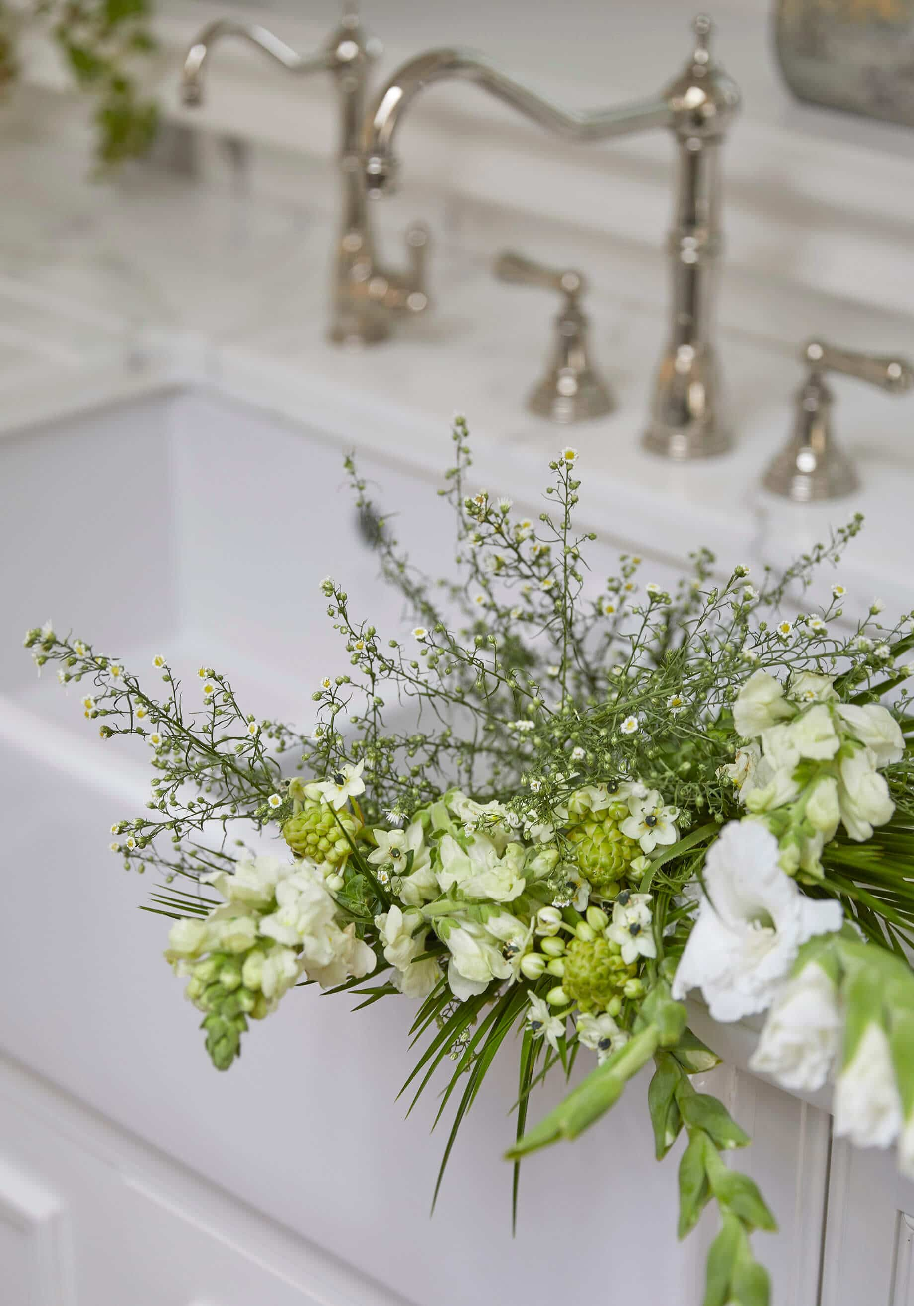 close up of flowers in classic luxury family home