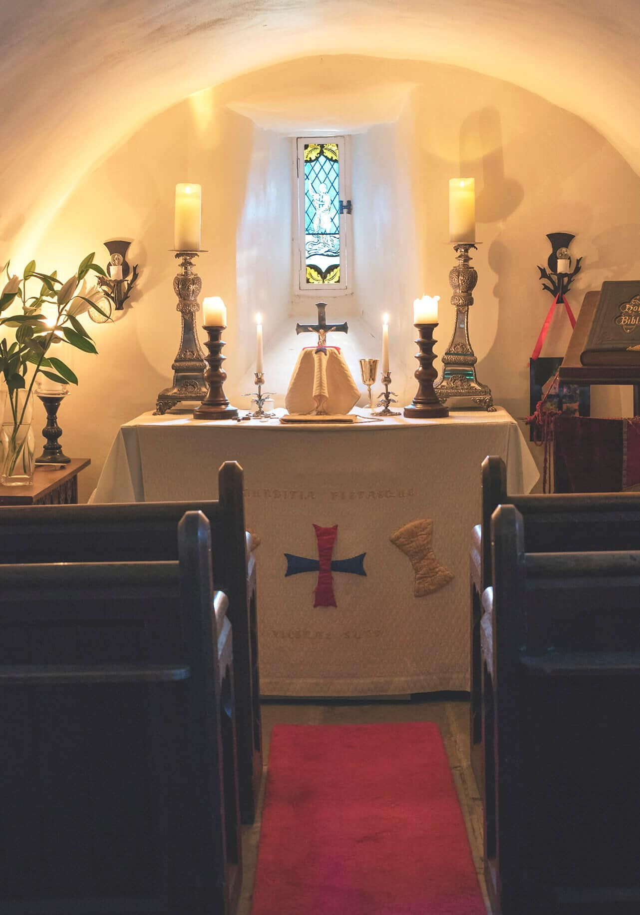 shot of private chapel in scottish castle