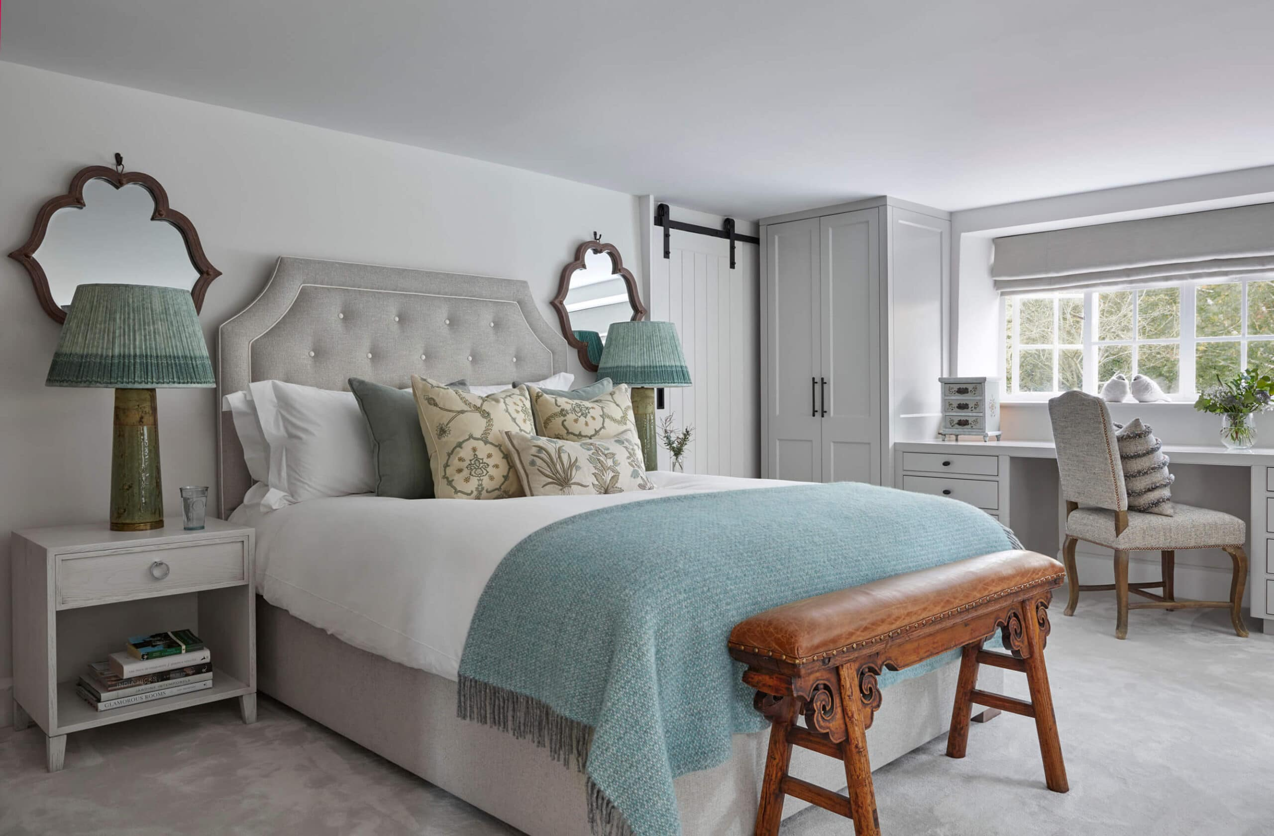 Converted Mill House bedroom