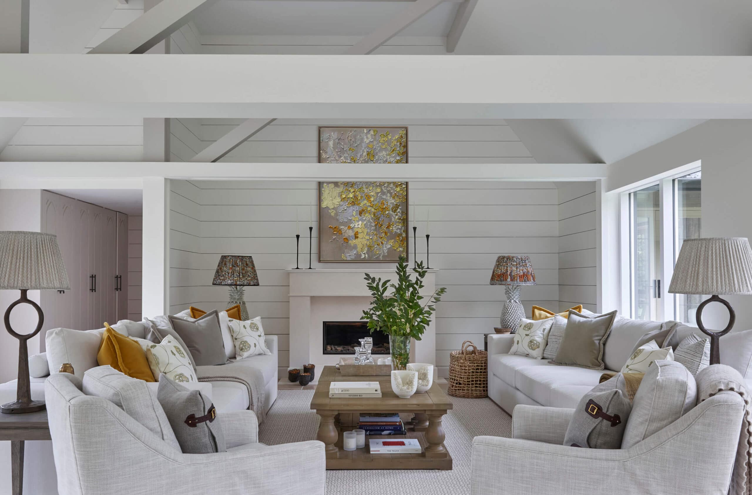 Luxury country home living room