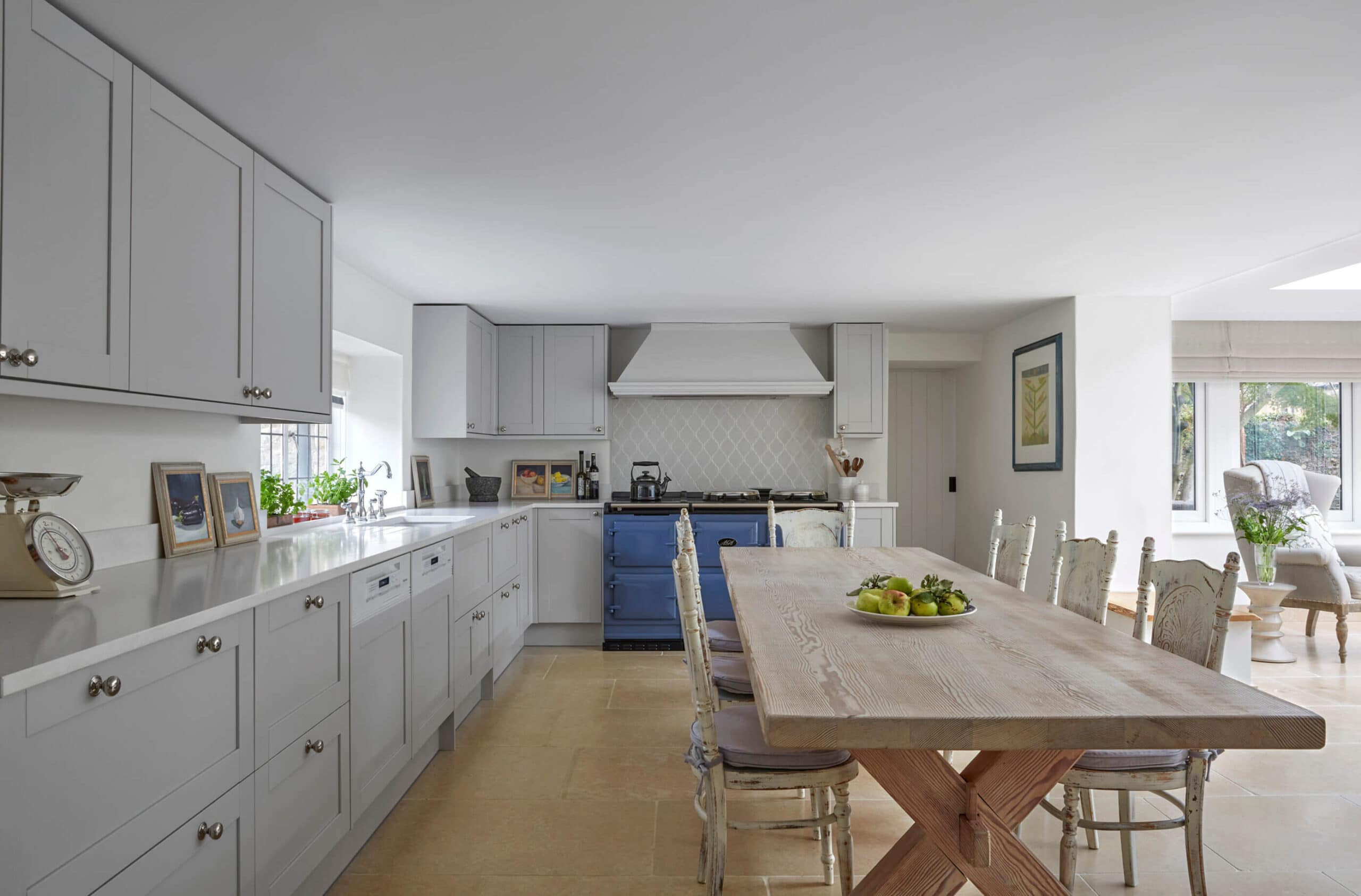 Luxury kitchen in family country home