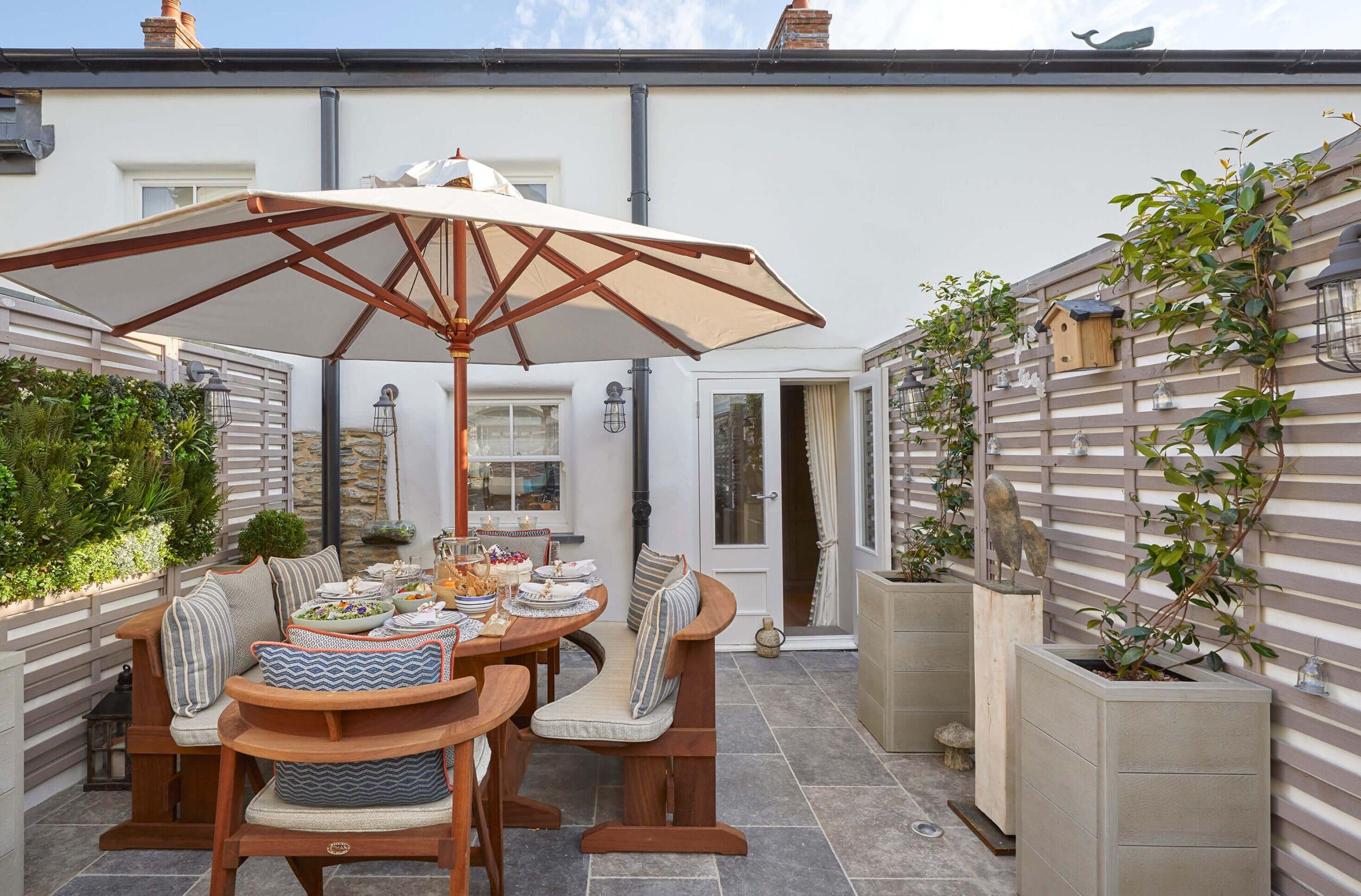 Courtyward in luxury Devon luxury inteior design project