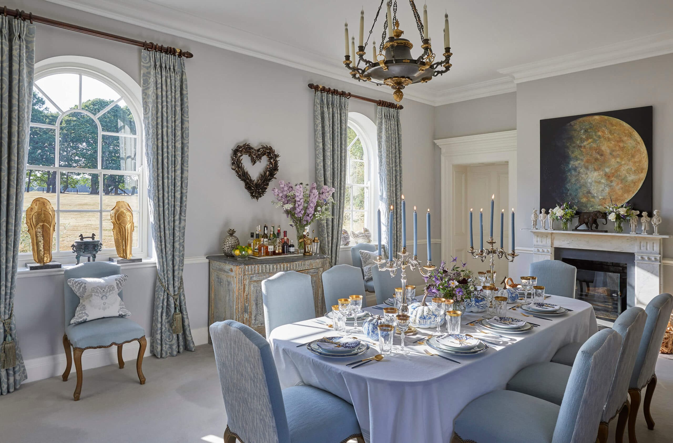 Luxury country home interior design