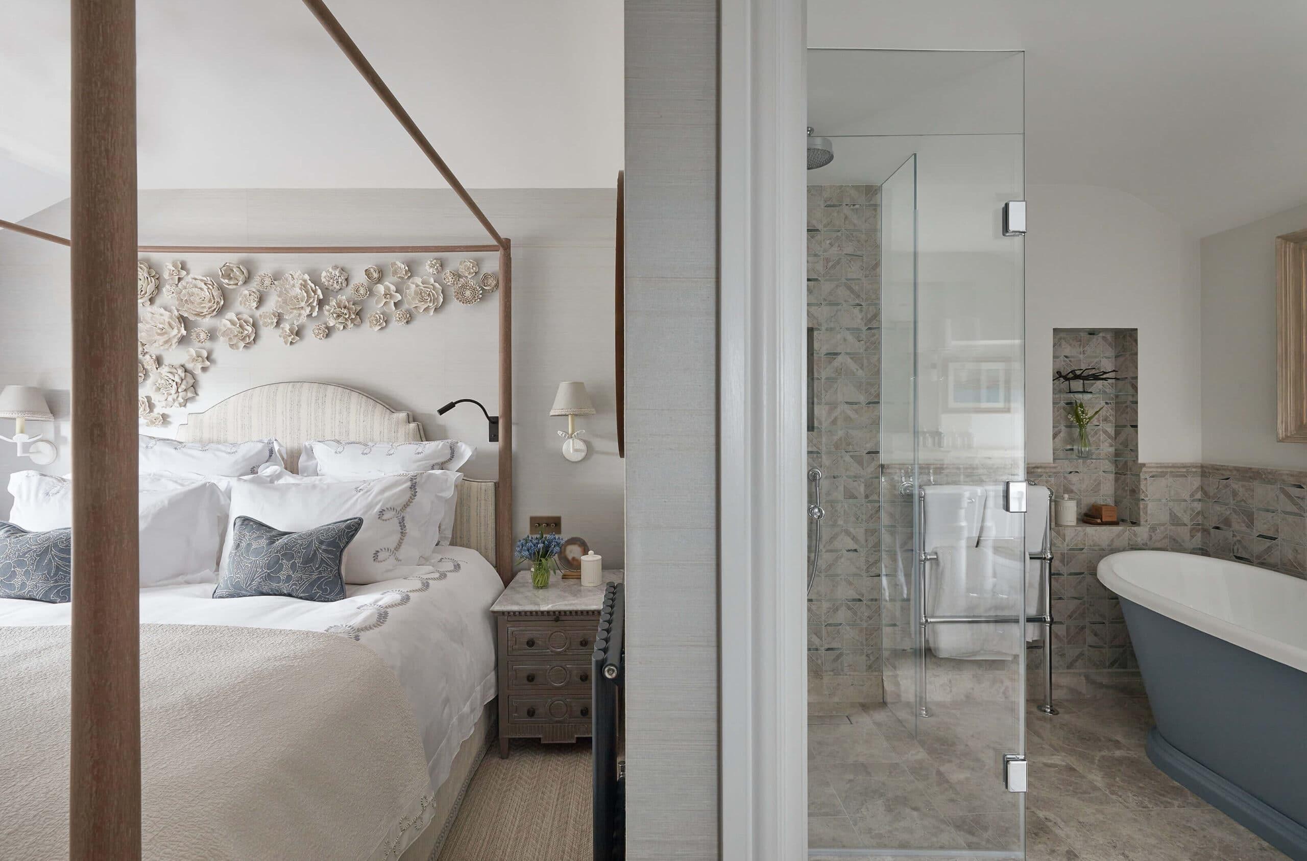 bathroom of luxury interior in cotswolds