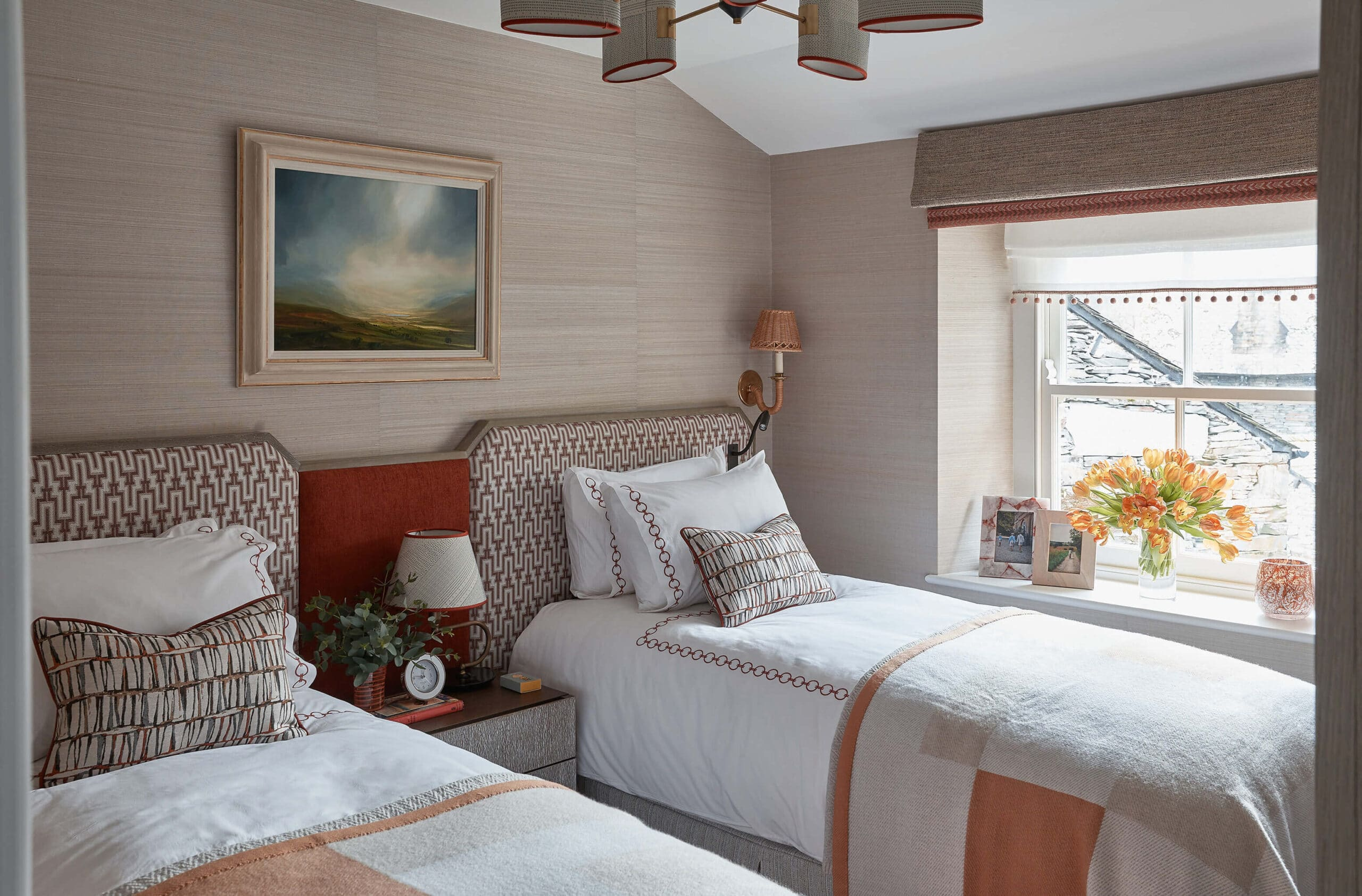 Bedroom of interior design project in Lake District