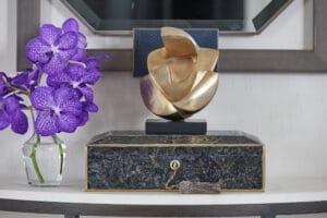 Adriana Black Shell Jewellery Box