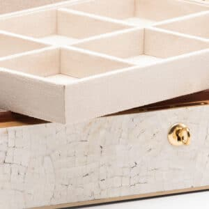 Adriana Cream Shell Jewellery Box