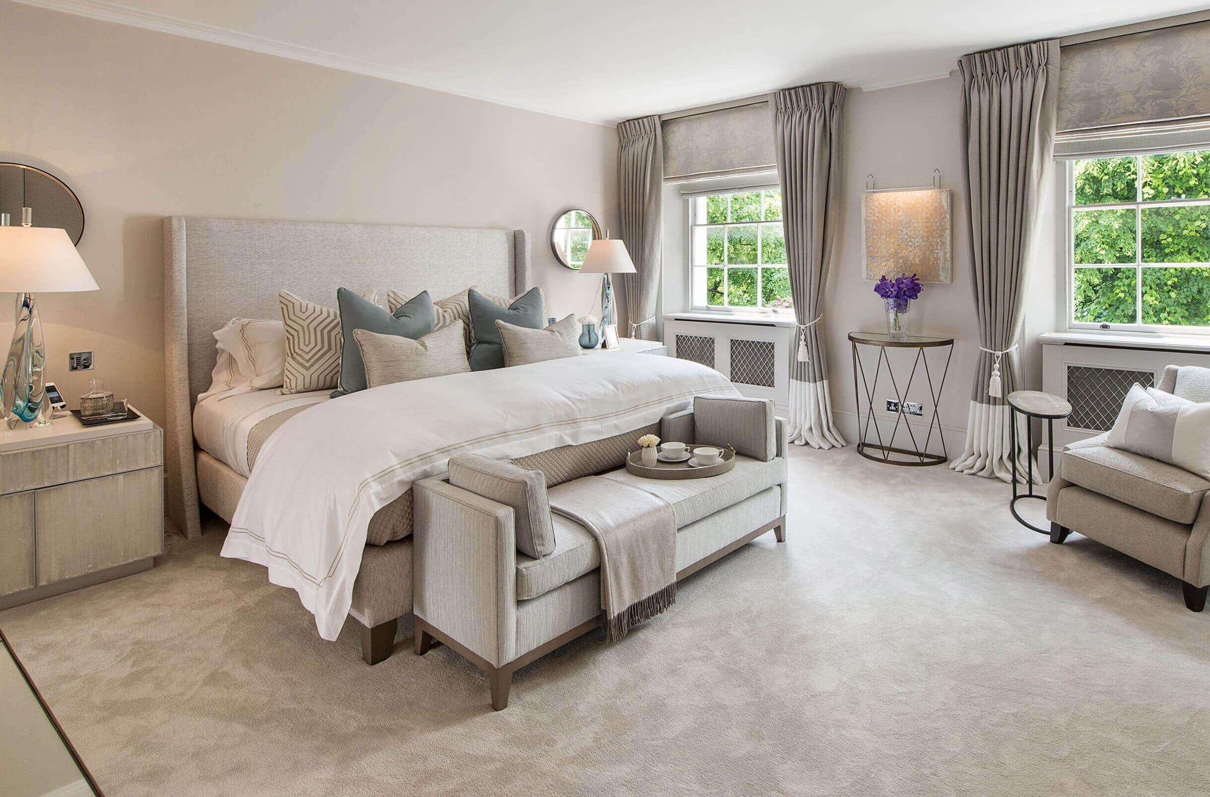 bedroom interior design in townhouse