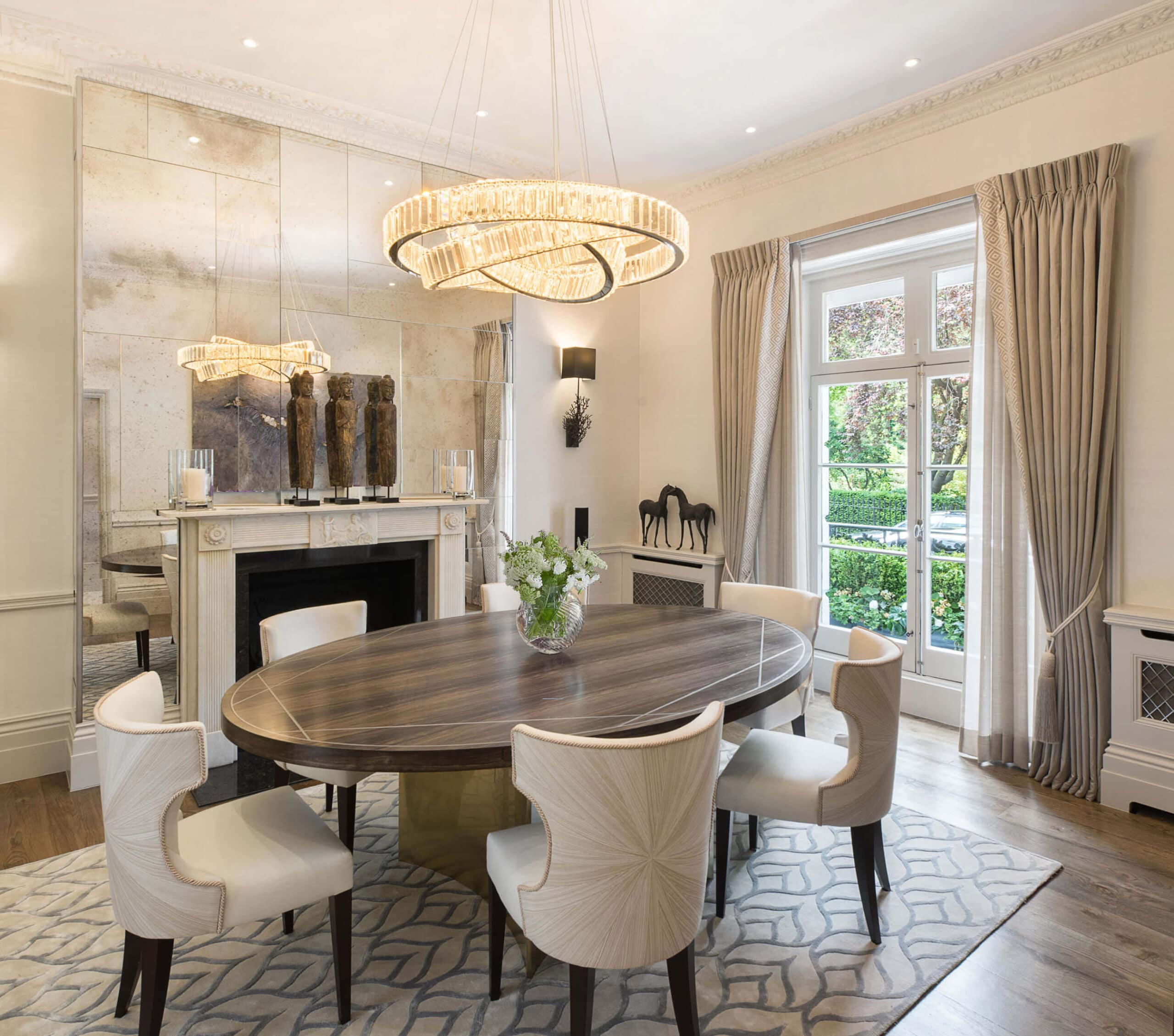 Luxury interior design project for townhouse