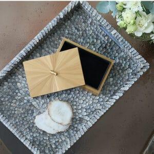 Celia Straw Marquetry Box
