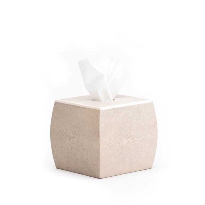 Designer Curved Shagreen Tissue Box