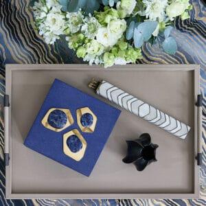 Diana Shagreen and Lapis Lazuli Box