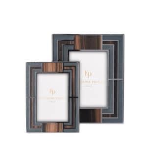 Luxury Deco Macassar Grey Photograph Frame