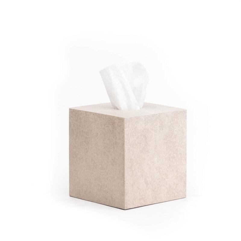 Luxury Belmont Square Shagreen Tissue Box