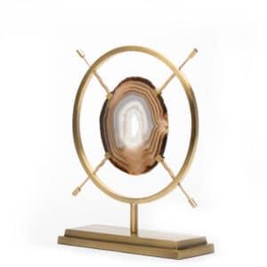 Sepia Agate sculpture