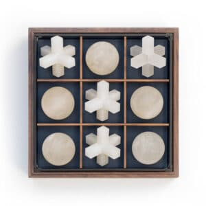 Alabaster Luxury Tic Tac Toe Board