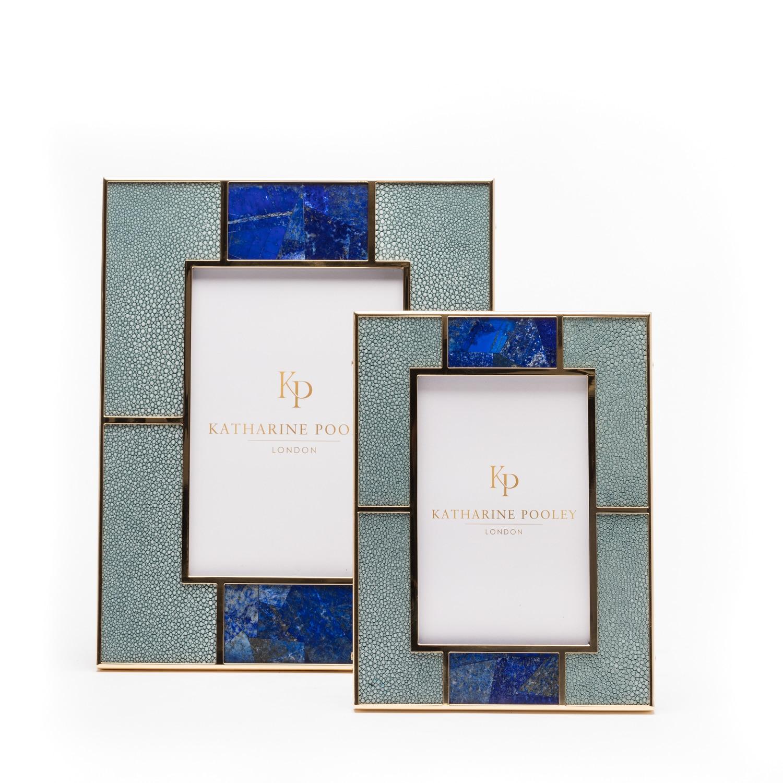 Luxury shagreen photograph frame