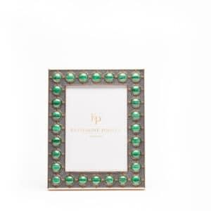 Malachite Stud Shagreen Photograph Frame