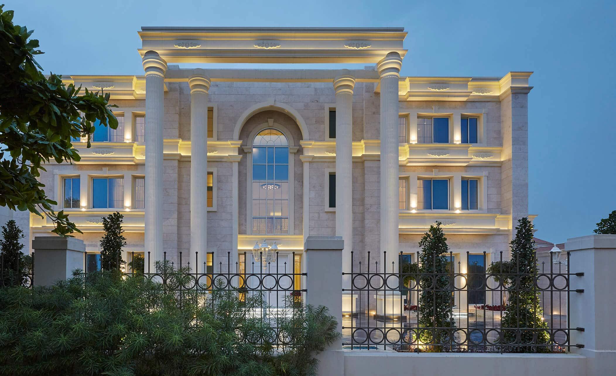 doha pearl villa luxury interior design project
