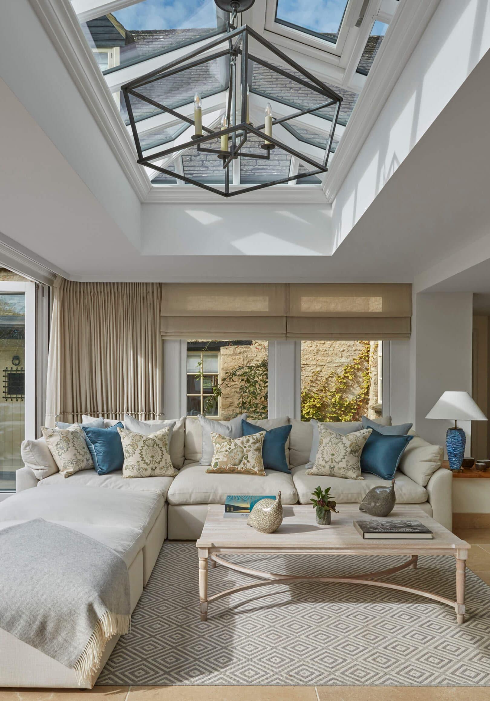 atrium in luxury family home
