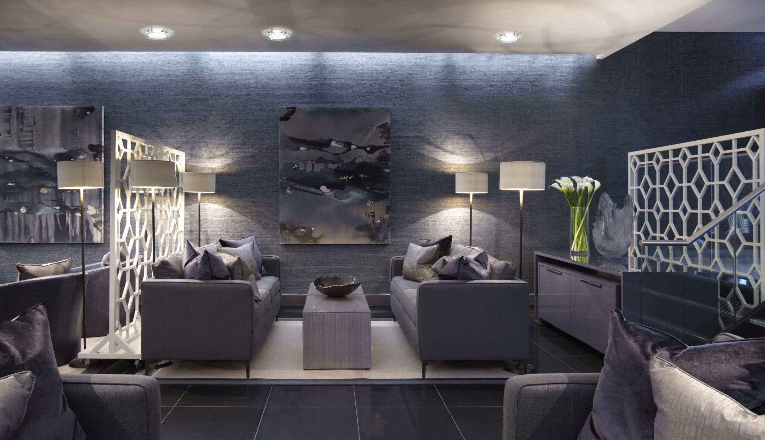 Heathrow private lounge designed by the Katharine Pooley studio