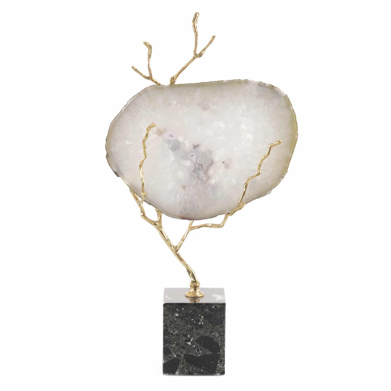 Luna White Agate Sculpture