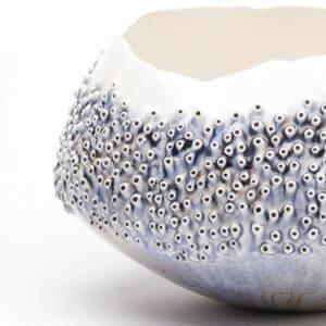 Coral Blue Porcelain Bowl