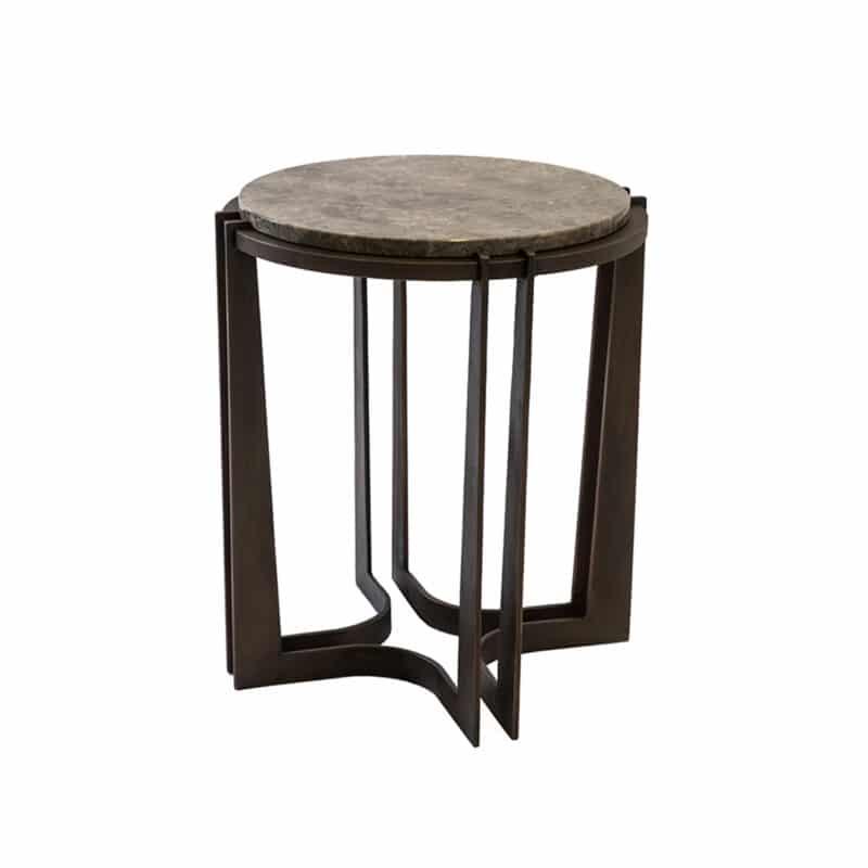Luxury Marble & Bronze Side Table