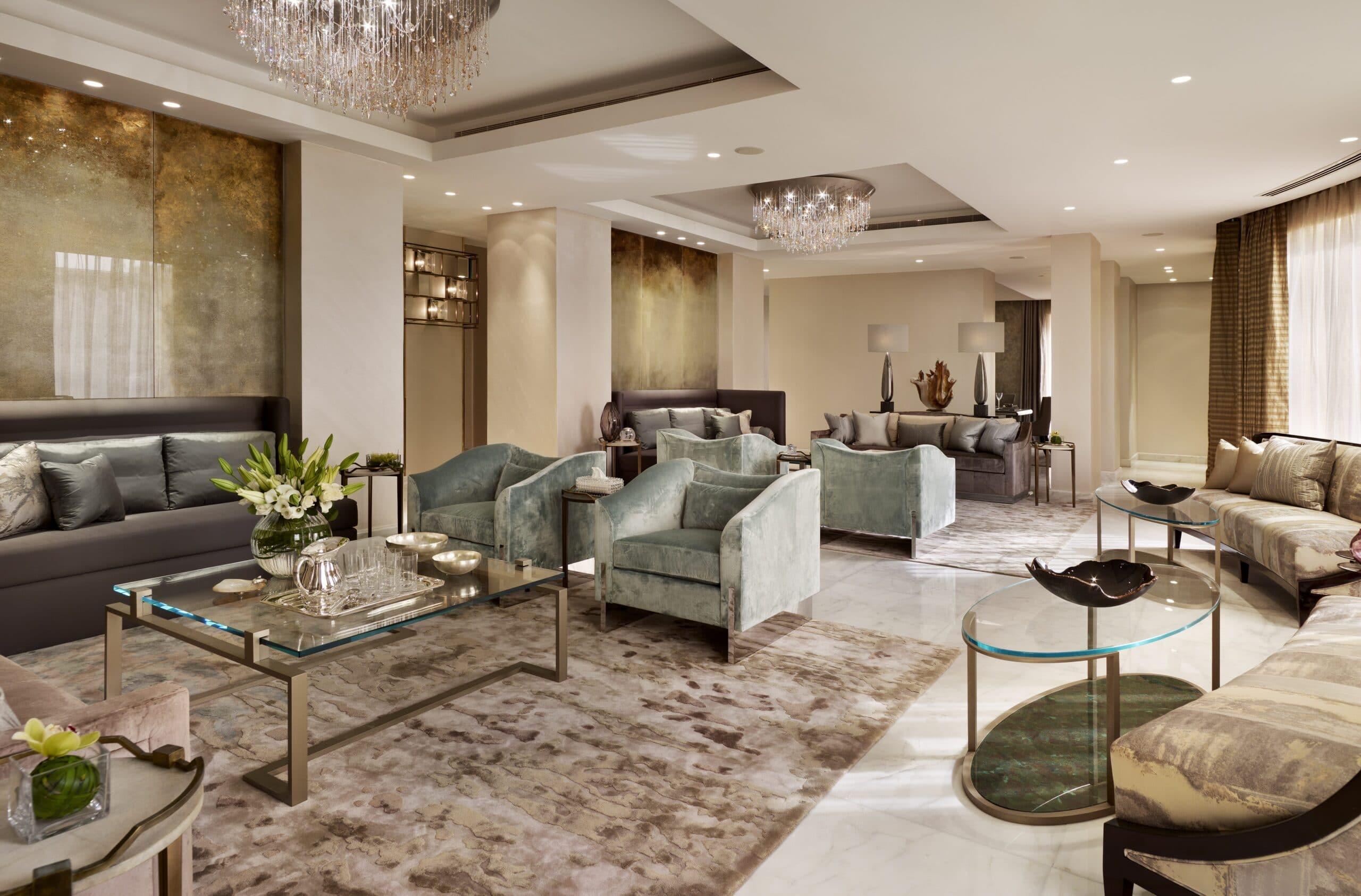 beautiful interior shot of luxury Qatar home