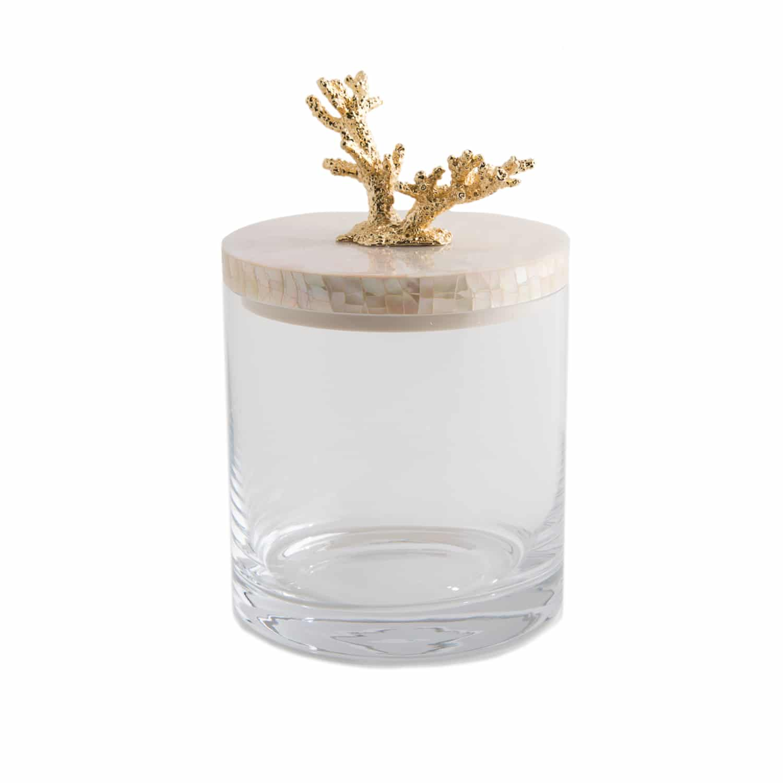 Handmade Coral Storage Jar