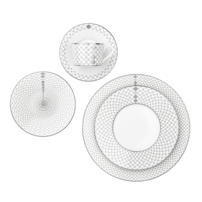 Jacques Porcelain China Designer Tableware Platinum
