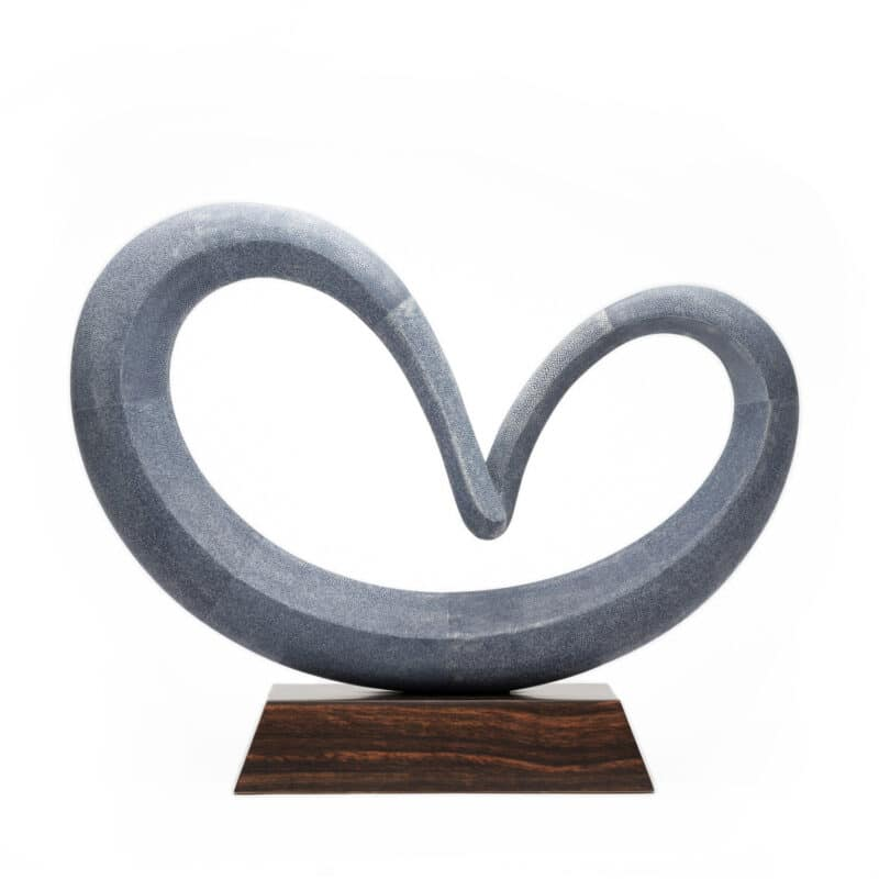 Handcrafted Infinity Shagreen Sculpture