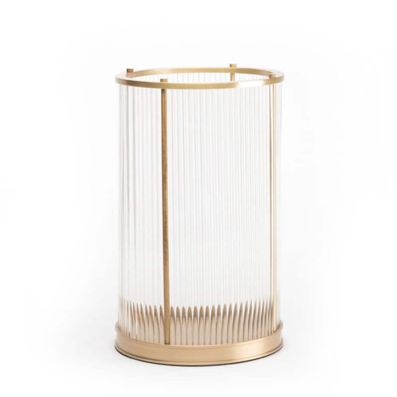 Designer Glass Candle Hurrcaine