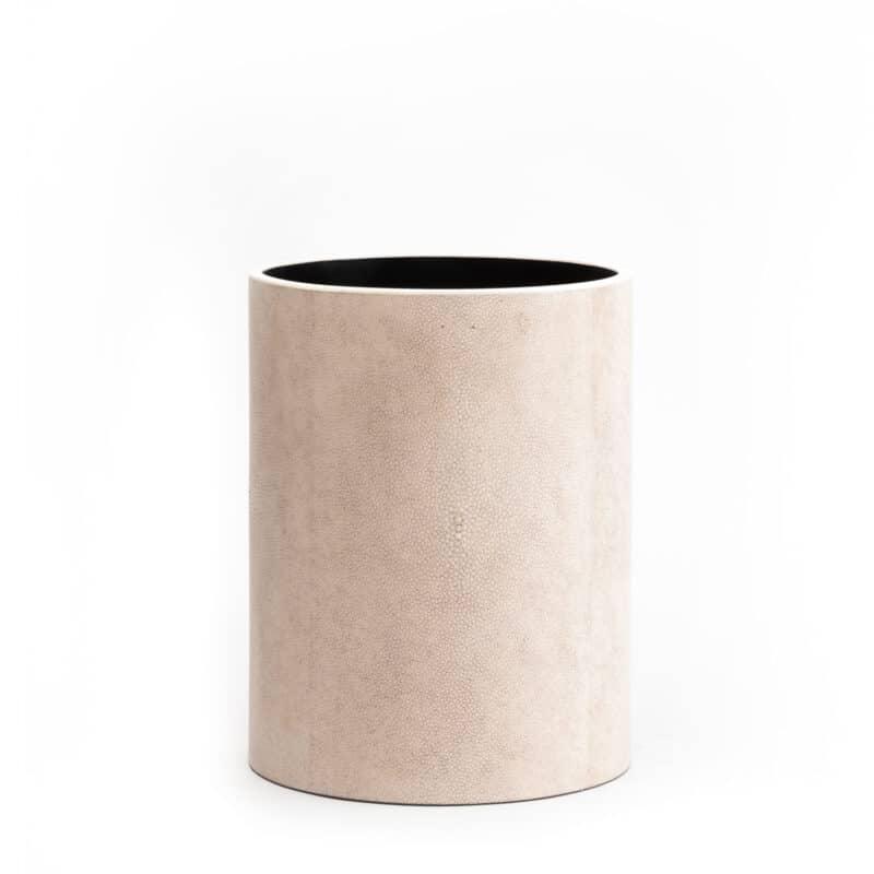 Luxury round Shagreen Bin