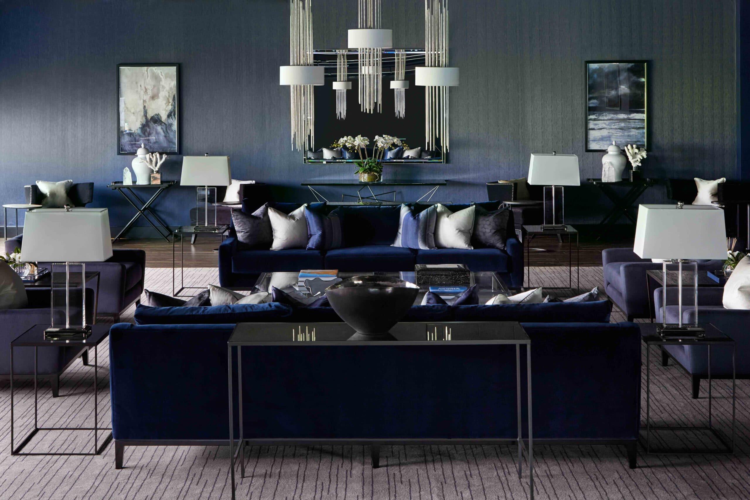Private jet lounge interior design project
