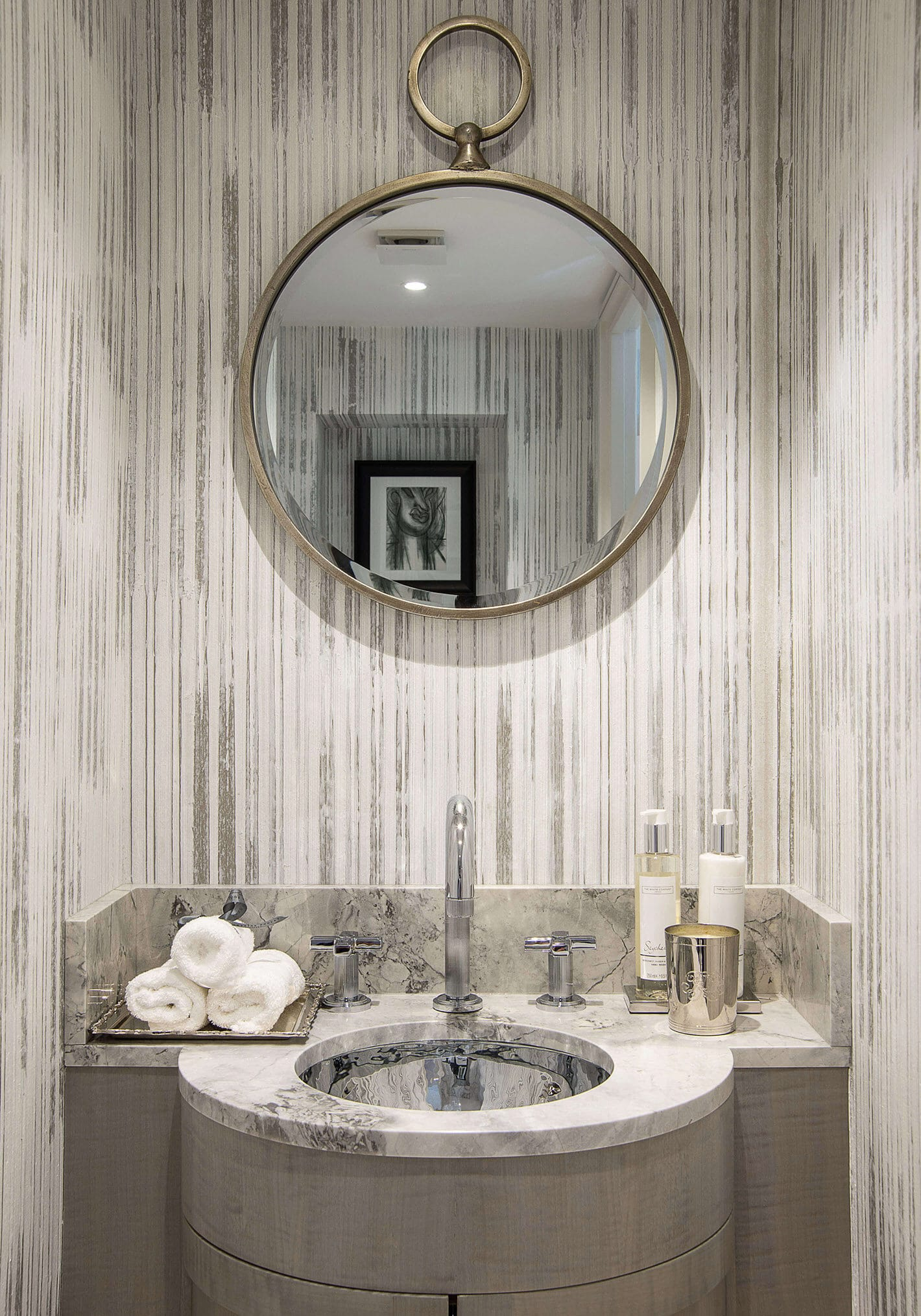 bathroom and mirror in townhouse project