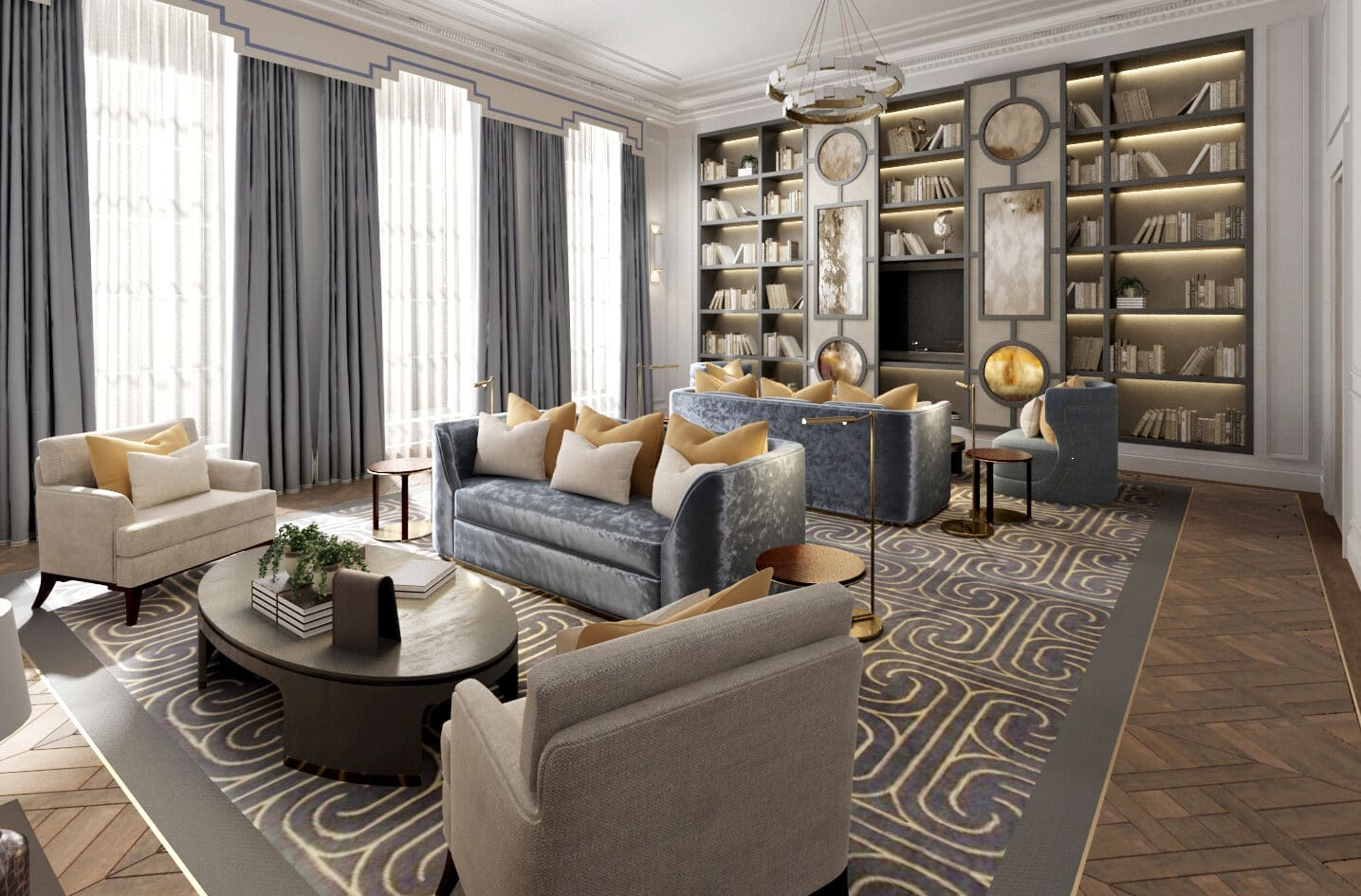 Living room of luxury london home