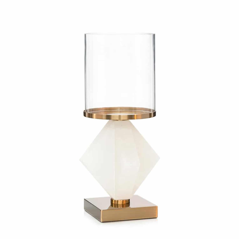 Alabaster luxury candle holder