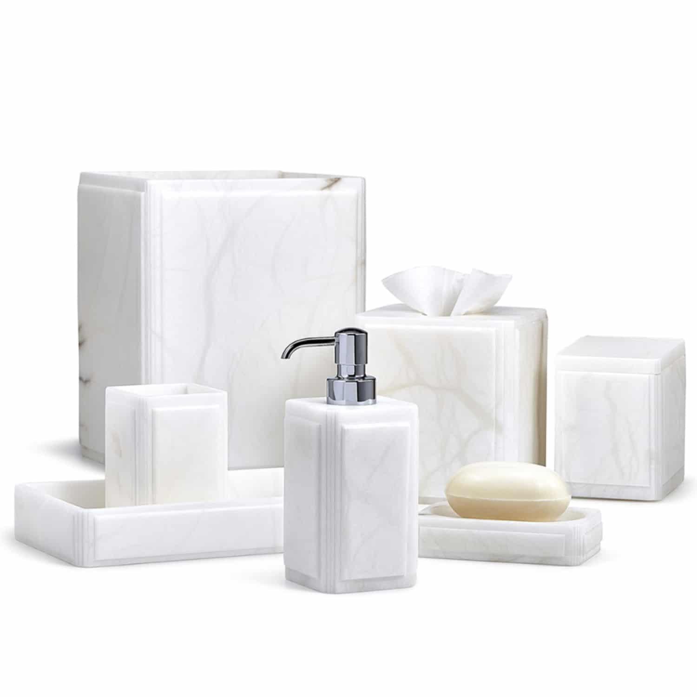 Alabaster Vanity Accessory Set
