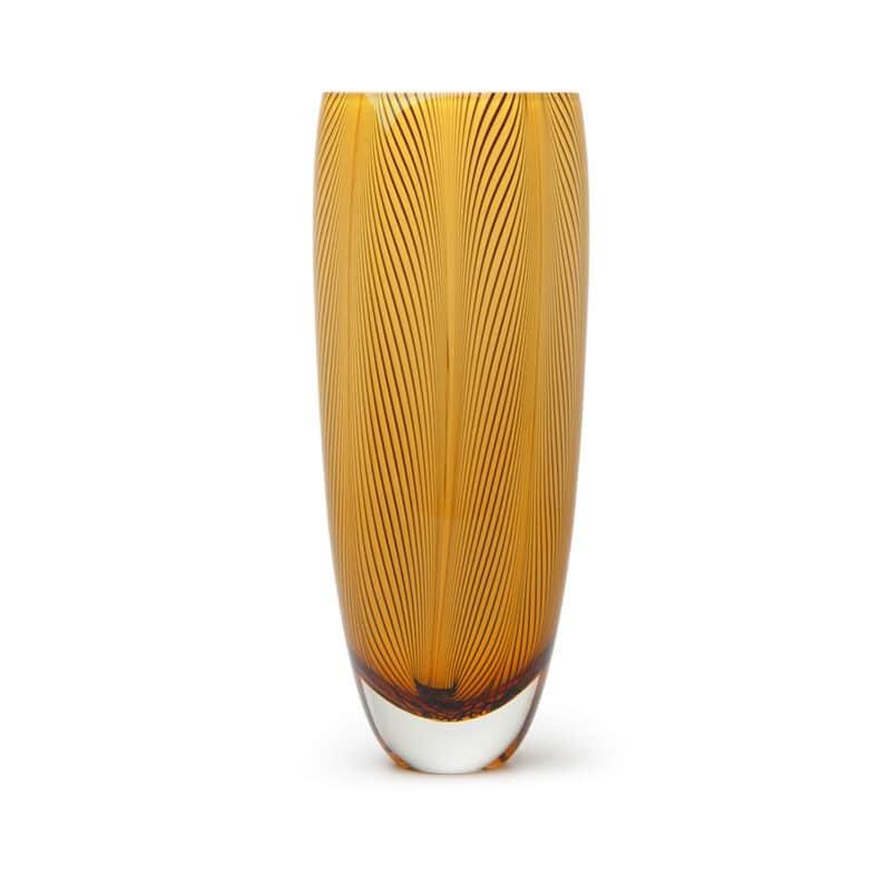 Designer Amber glass vase