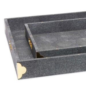 Audley Faux Shagreen Tray
