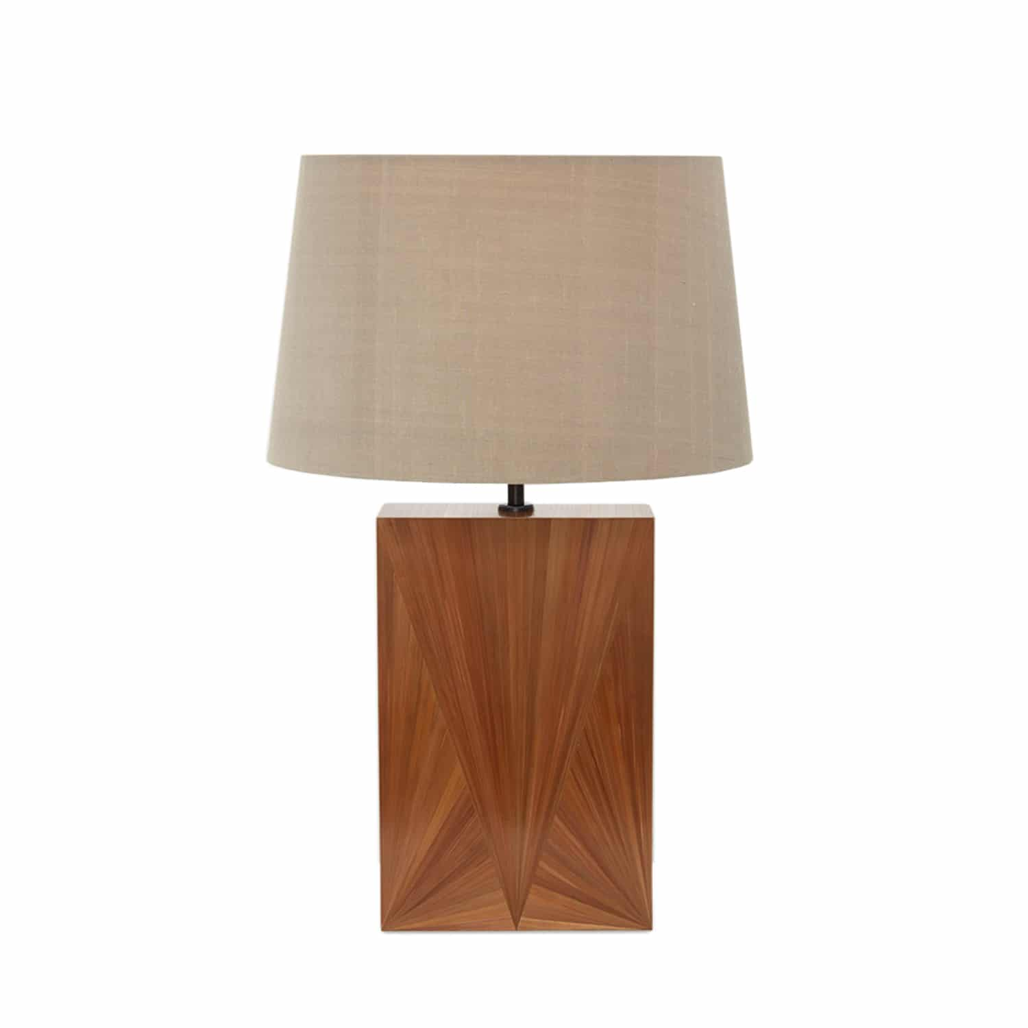 Luxury Aurore Straw Hand-Applied Marquetry Lamp | Katharine Pooley